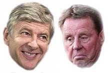 Redknapp taking on Wenger at the Emirates