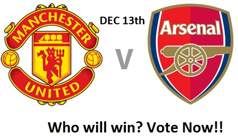 Manchester United Vs Arsenal at Old Trafford on the 13th of December!!